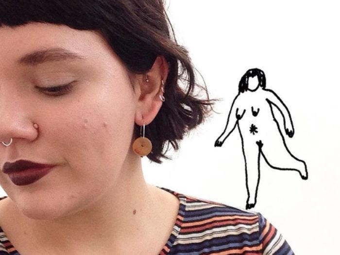 Frances Cannon dibuja la belleza de las tallasgrandes